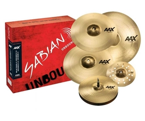 Kit de pratos Sabian AAX Prise and Worship Hi Hat-14 Crash-16 Crash-18 Ride-21 + Splash 10 Grátis