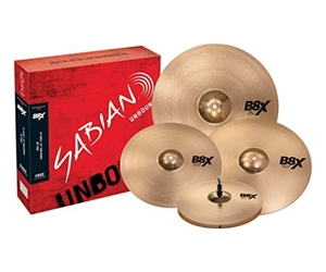 Kit de pratos Sabian B8X Performer Set Plus Hi-Hat-14 Crash-16 Ride-20 + Crash-18 Grátis - 45003XG