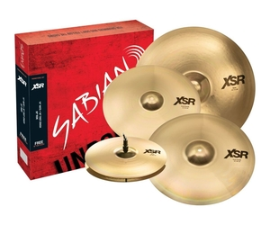 Kit de Pratos Sabian XSR Performance Set Hi-Hats-14 Crash-16 Ride-20 + Crash-18 Grátis - XSR5005GB