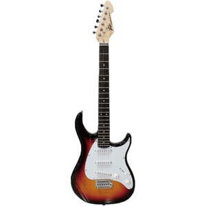 Guitarra Peavey Raptor SSS Sunburst com Escudo Branco 3 Single