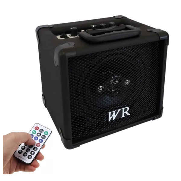 Caixa Multiuso Amplificada WR-Audio RD 180 com BT+USB+SD6 30 Watts