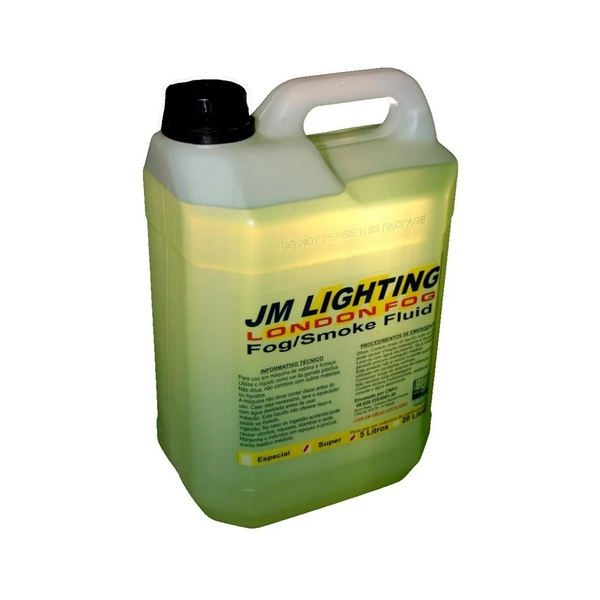 Fluido JM Lighting London Fog SUPER - 5 Litros para Maquina de Fumaça