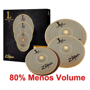 Kit de Pratos Zildjian Low Volume - LV468- 14HH+16C+18CR