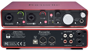 Interface Áudio Focusrite Scarlett 2i4 usb
