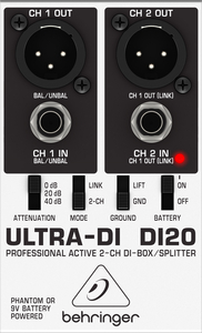 Direct Box Behringer DI 20 Ativo