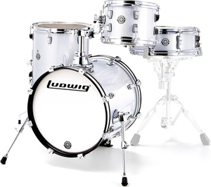 Bateria Ludwig LC 179x028 Breakbeats White Sparkle Shell Pack