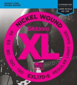 Encordoamento Contrabaixo Daddario EXL 170 5 XL Nickel