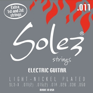 Encordoamento Guitarra Solez SL 3 X Nickel Plated 011